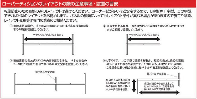 FLPX-S1309Wのレイアウトの際の注意事項