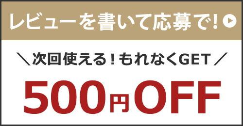 レビュー500円OFFクーポン