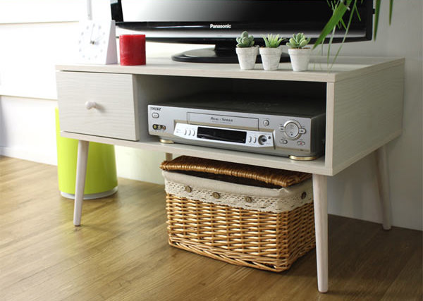 テレビ台 TV台 細足タイプ SALUTE 木製 引出し付 幅80cm