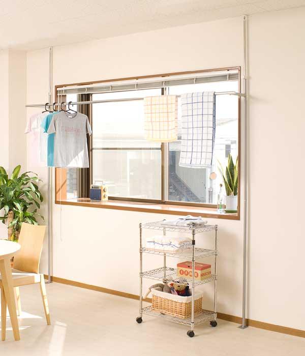 窓際�設置��る��張り物干��ンガー<NJ��132>