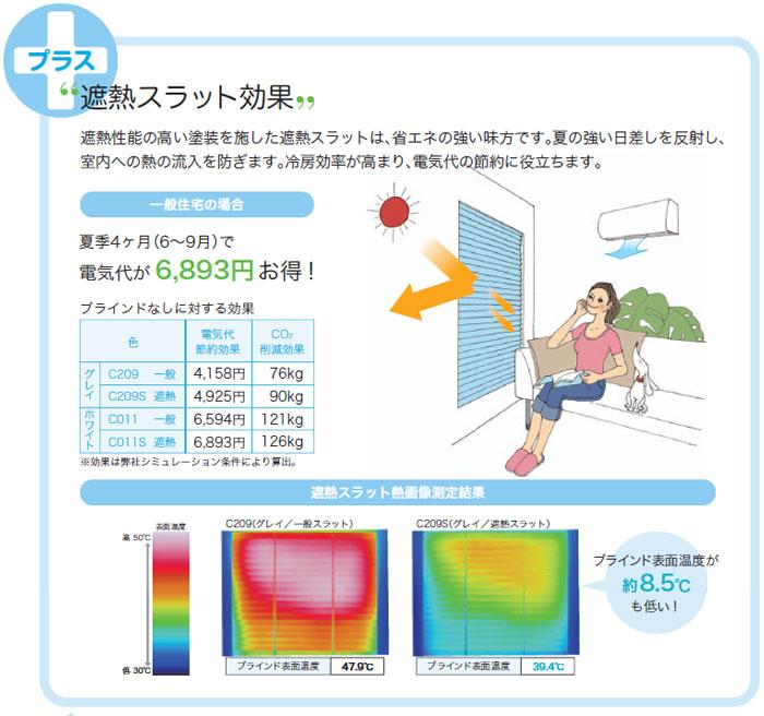 遮熱効果で電気料金節約