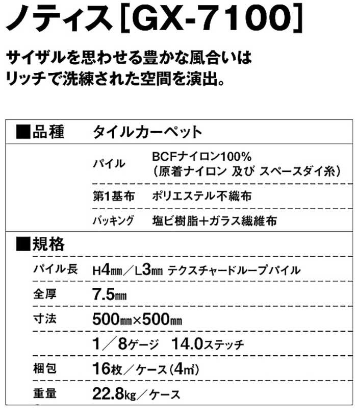 タイルカーペットの製品詳細