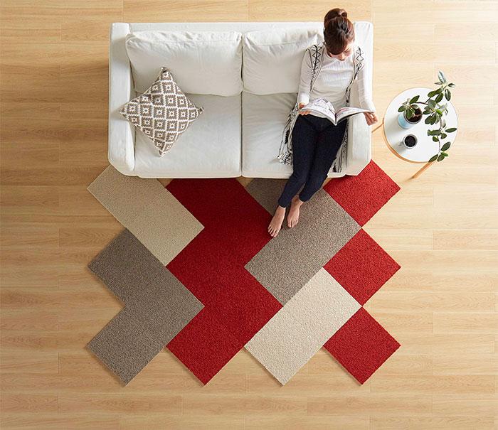 タイルカーペットの施工イメージ