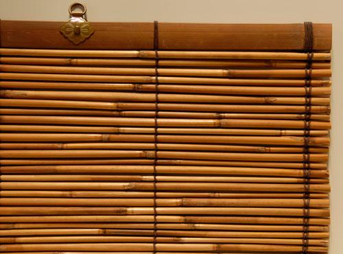 竹子窗簾效果圖