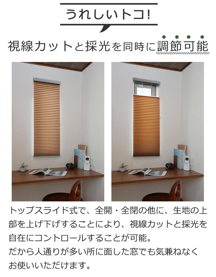 トップスライド仕様 視線カット プライバシー 採光 調光