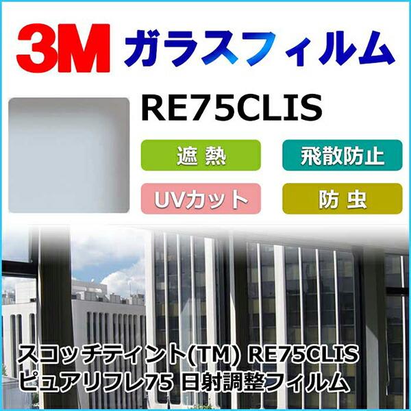 ガラスフィルム RE75CLIS 日射調整フィルム ピュアリフレ75