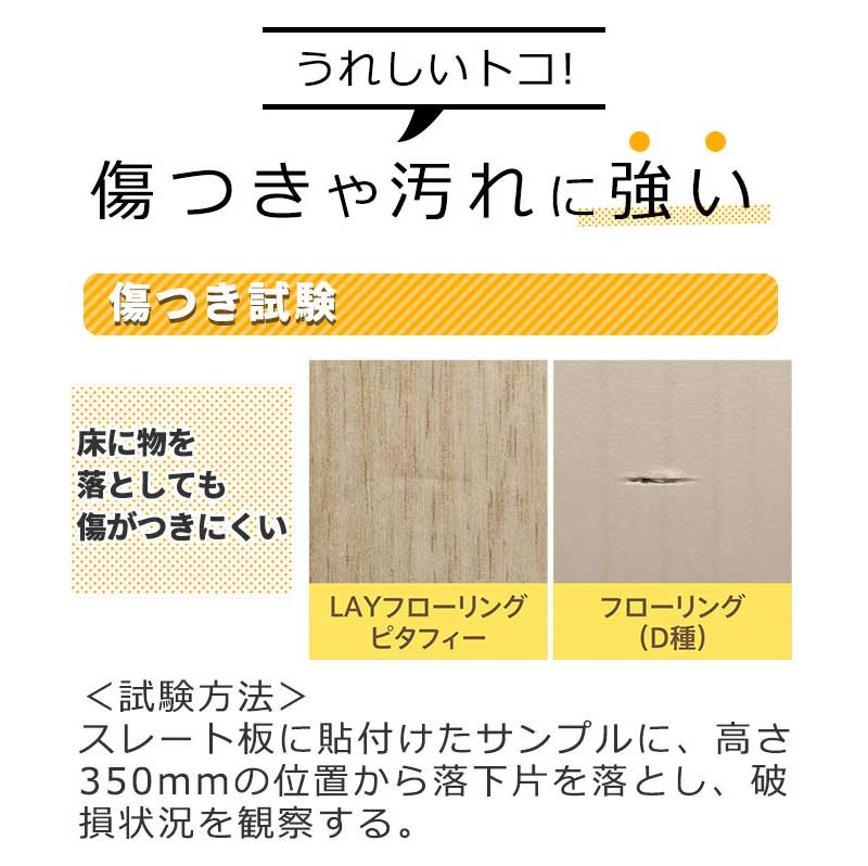 傷や汚れに強い 日本製 フローリング