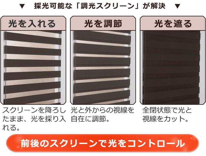 調光スクリーン ゼブライト スリット窓・小窓にも対応サイズ