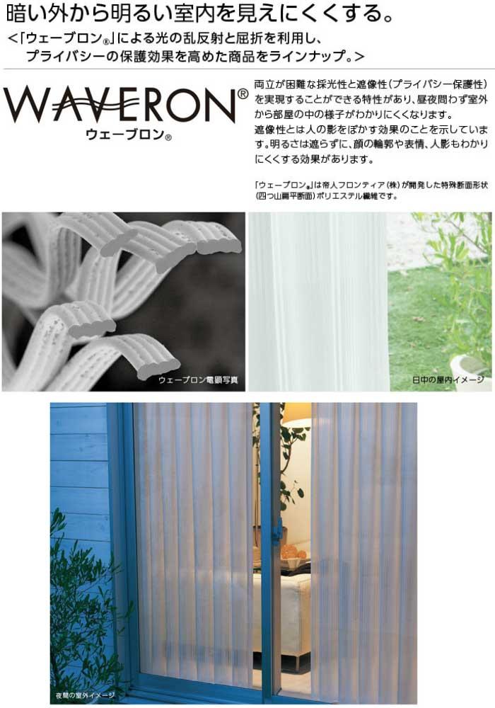 WAVERON 暗い外から明るい室内を見えにくくする。
