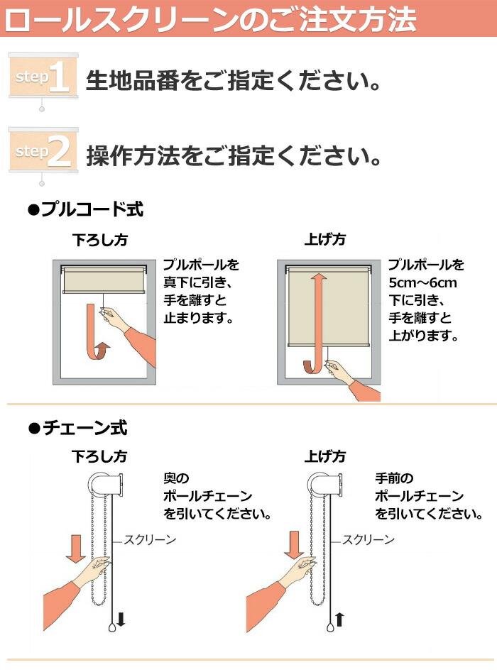 ロールスクリーン ご注文方法