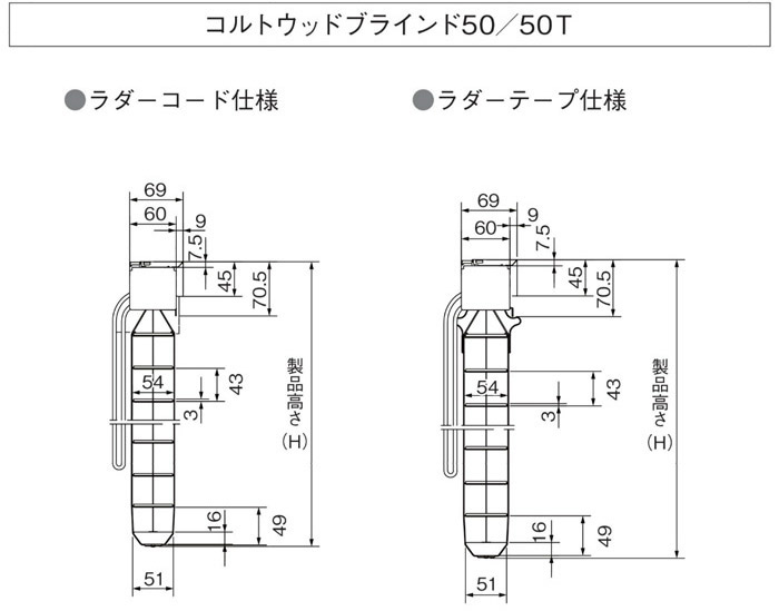 ウッドブラインド図
