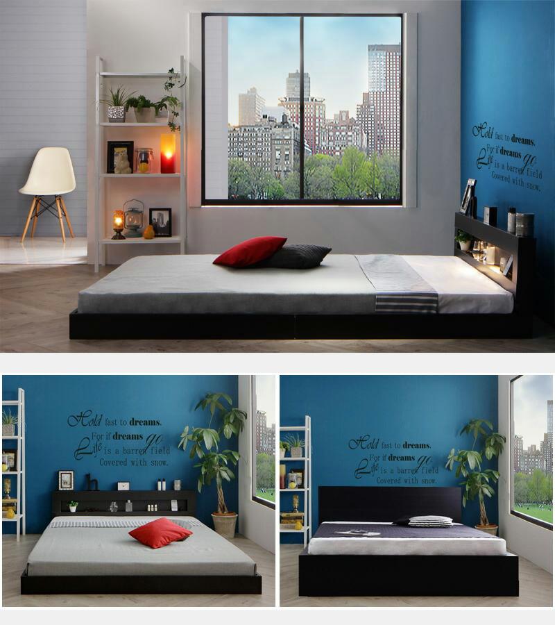 シンプルでハイセンスなデザインベッド
