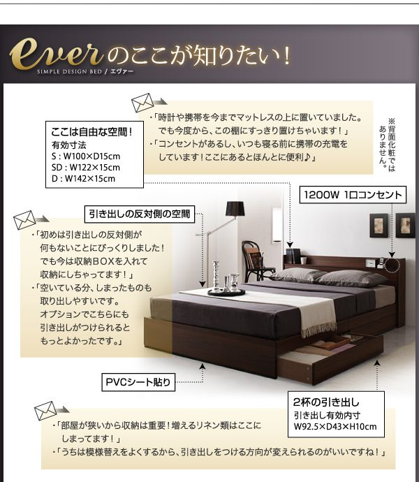 収納ベッドのディテール