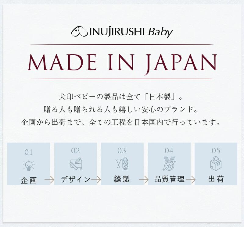 犬印ベビーは安心の日本製