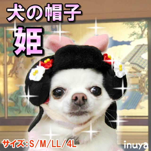 犬の帽子コスプレ・お殿様カツラ