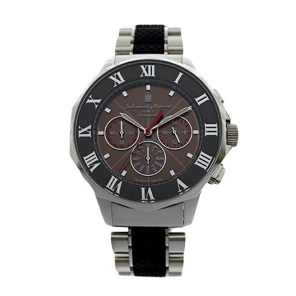 サルバトーレ マーラ 電波ソーラー クロノ クオーツ メンズ 腕時計