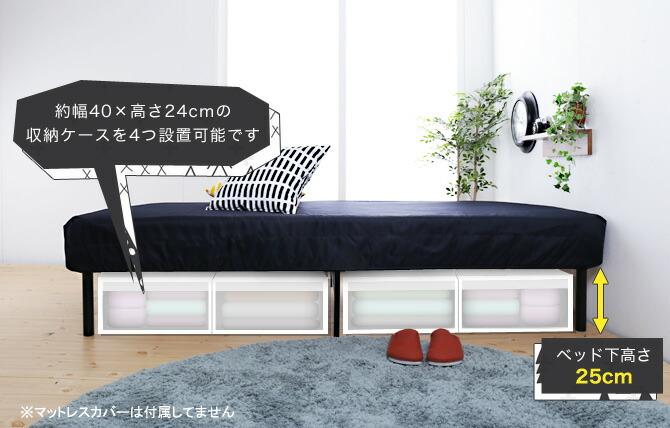 ベッド下は収納スペースになります