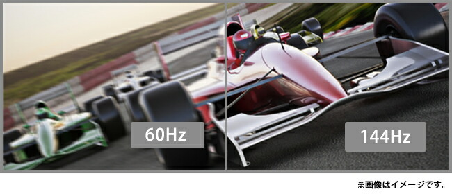 全ポートで144Hzの高速リフレッシュレート対応!