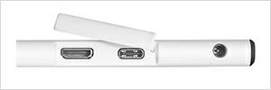 USB Tyepe-C採用!ケーブル1本でPCと接続できる!