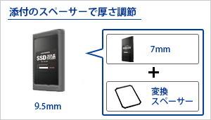 7mm→9.5mm変換スペーサーも添付。