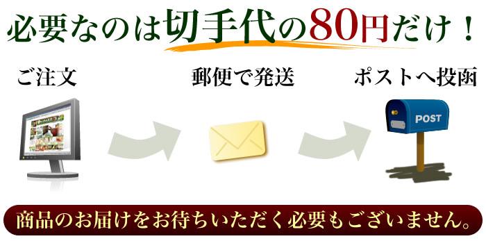 必要なのは切手代の80円だけ!