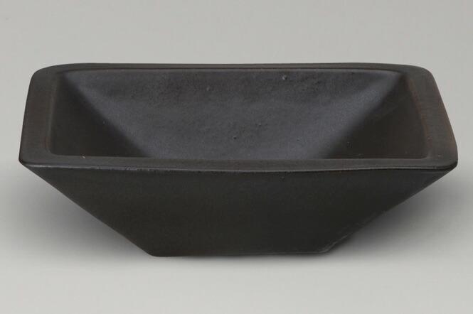 手書き草花手洗鉢