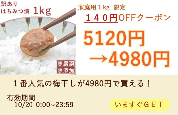 梅干し140円OFF