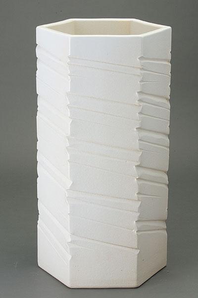 ホワイトマットヘキサゴン傘立