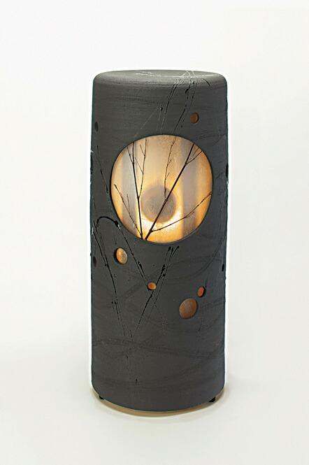 信楽焼 涼月 音照明 灯り 陶器