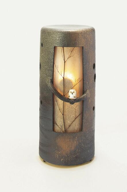 信楽焼 涼風 音照明 灯り 陶器