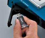 USBメモリー用端子