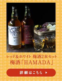 レッド&ホワイト 梅酒2本セット梅酒「HAMADA」
