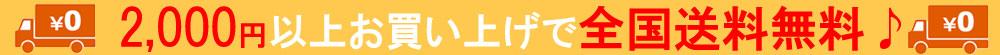 2000円以上お買い上げで全国送料無料!