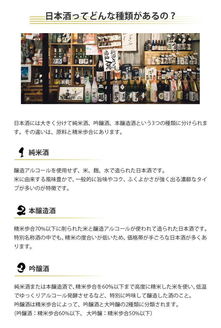 日本酒の種類