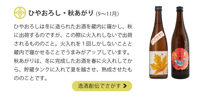 四季の日本酒・ひやおろし