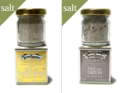 タルトゥフランゲTARTUFLANGHE トリュフ塩(白/黒)セット