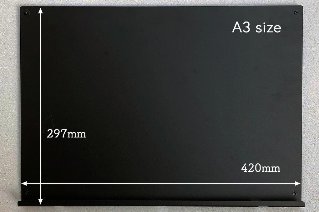 使いやすいA3サイズです