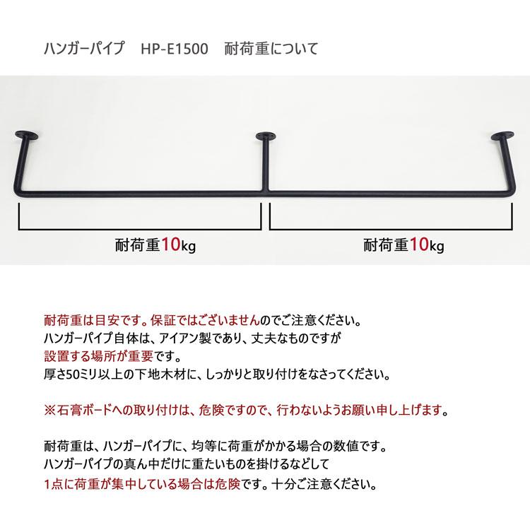 Iron ロートアイアン ハンガーパイプ E型巾150センチ