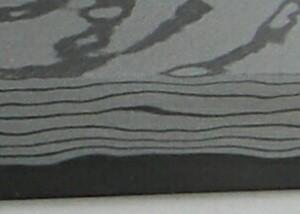 田中一之刃物誠貴作青紙2号積層鋼墨流し出刃包丁