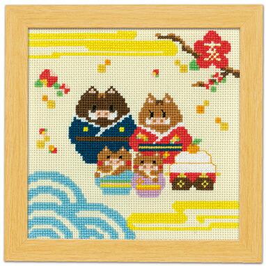 オリムパスイノシシ家族と鏡餅No.7500