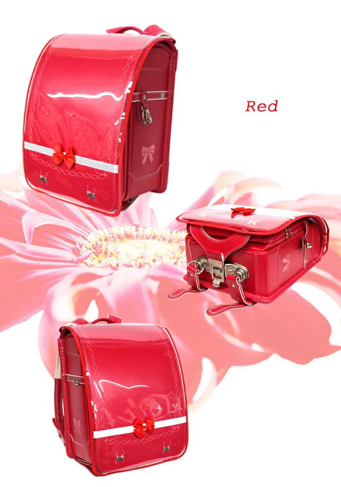 ランドセルカバー 透明 赤