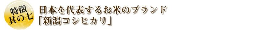 日本を代表するお米のブランド 「新潟コシヒカリ」