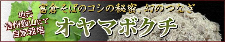 富倉そばのコシの秘密、自家栽培オヤマボクチ