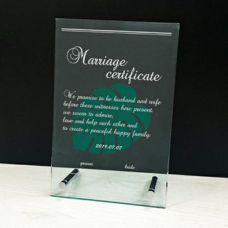 アクリル結婚証明書
