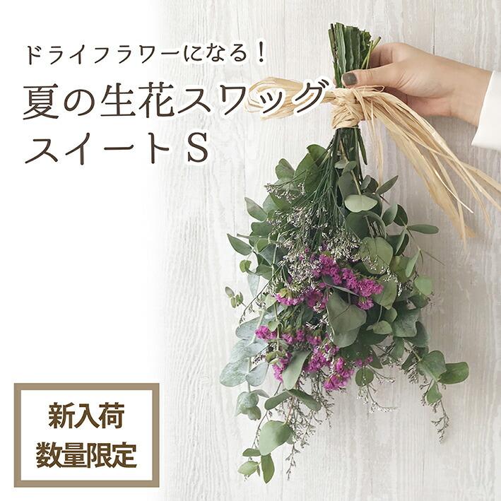 夏の生花スワッグS(スイート)