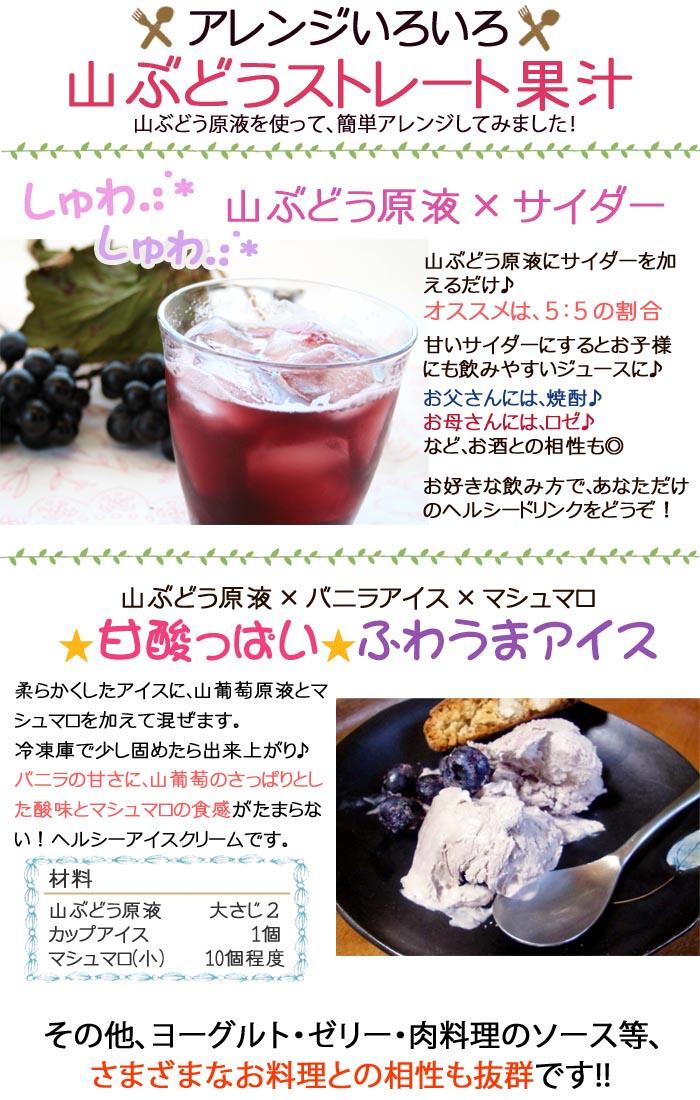 山葡萄スイーツレシピ・山ぶどうアイス