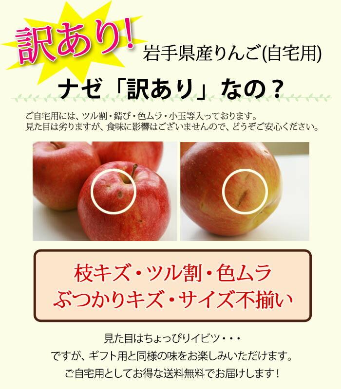 訳ありリンゴ注意点