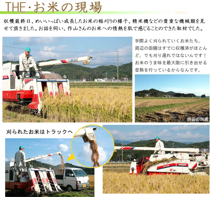 作山ファームの稲刈り
