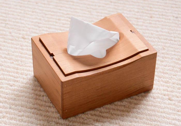 木製ティッシュケース