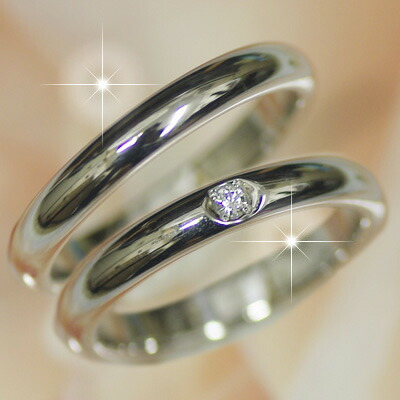 Wedding ring wedding ring pairing pure Platinum Sierre pure diamonds made  PT999 cursive   ?    Kanji    heart stamp can be Mint certification marks